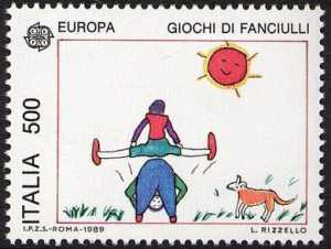 Europa - Giochi infantili - disegni di L. Rizzello