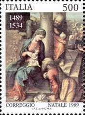 Natale - «Adorazione dei Magi» di Antonio Allegri detto il Correggio - particolare