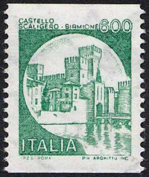 Castelli d'Italia - Serie ordinaria - per distributori automatici- Castello Scaligero - Sirmione