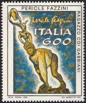 Patrimonio artistico e culturale italiano - «Ragazzo con gabbiani» - scultura di Pericle Fazzini