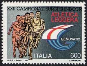 Lo sport italiano - Atletica leggera - XXII campionati europei indoor - logo «Genova '92»