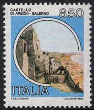 Castelli d'Italia - Serie ordinaria  - Castello Arechi - Salerno