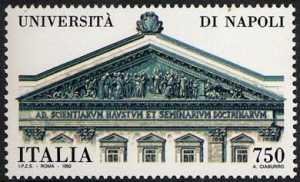 «Scuole d'Italia» - Università di Napoli  - facciata