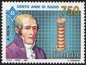 Centenario della radio - 2ª emissione - Alessandro Volta - lo scienziato e la pila