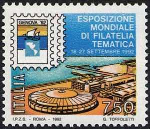 «Genova '92» - Esposizione mondiale di filatelia tematica - veduta della Fiera