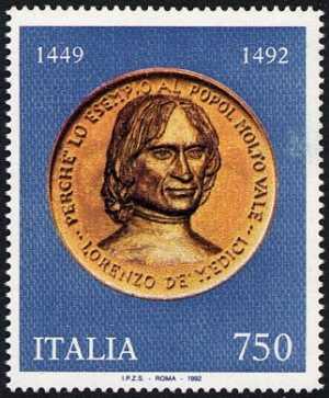 5° Centenario della morte di Lorenzo De' Medici, detto il Magnifico - medaglione