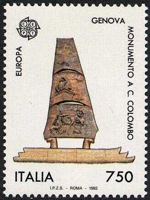 Europa - 37ª serie - 5° Centenario della scoperta dell'America - Monumento di G. Giannetti