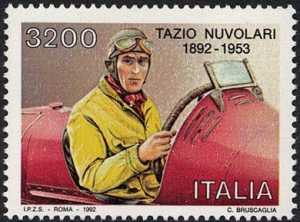 Centenario della nascita di Tazio Nuvolari - il pilota al volante