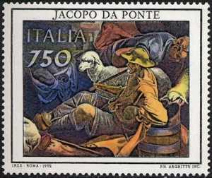 Patrimonio artistico e culturale italiano - Jacopo da Ponte detto Jacopo Bassano - «Adorazione dei Magi» - particolare