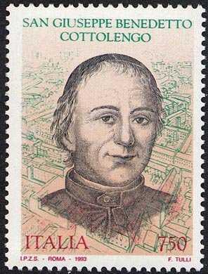 Omaggio all'opera di San Giuseppe Benedetto Cottolengo, fondatore della Piccola Casa della Divina Provvidenza di Torino