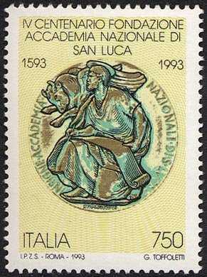 4° Centenario della fondazione dell'Accademia Nazionale di San Luca - medaglia
