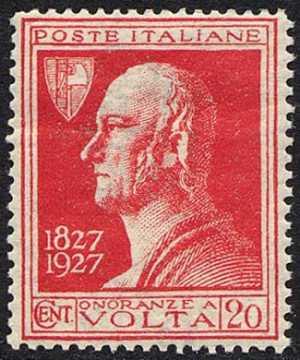 1927 - Centenario della morte di Alessandro Volta