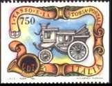 I Tasso e la storia postale - provenienti da libretto - non dentellati verticalmente- diligenza postale