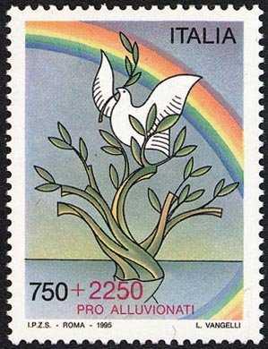 Pro alluvionati - francobollo con sovrapprezzo a favore delle zone colpite dagli eventi alluvionali