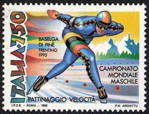 Lo sport italiano - campionato mondiale maschile di pattinaggio velocità su ghiaccio - Baselga di Pinè - Trentino