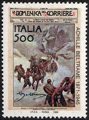 Cinquantenario della morte di Achille Beltrame - copertina del primo numero de «La Domenica del Corriere»  del 8/1/1899