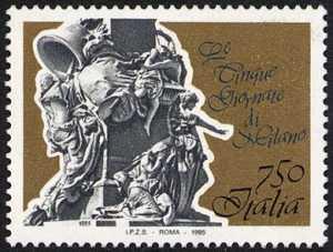 «Le Cinque Giornate di Milano» nel centenario dell'inaugurazione del monumento ai caduti  - particolare del monumento