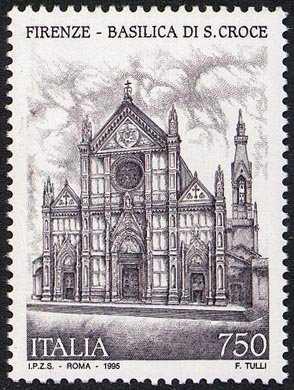 Patrimonio artistico e culturale italiano - Basilica di S. Croce - Firenze - prospetto della Basilica