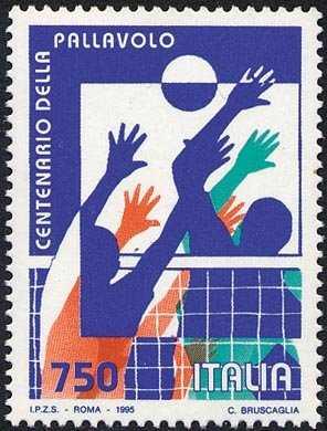 Lo sport italiano - Centenario della pallavolo - «Schiacciata e muro»
