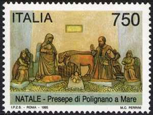 Natale - Presepe monumentale di Polignano a Mare - La Sacra Famiglia