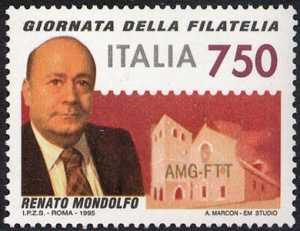 Giornata della filatelia - Omaggio a Renato Mondolfo - ritratto
