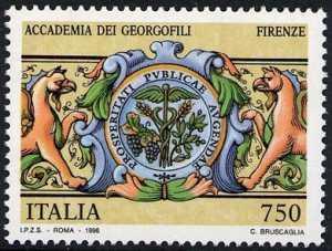 I tesori dei musei e degli archivi nazionali - Accademia dei Georgofili di Firenze - Stemma dell'Accademia