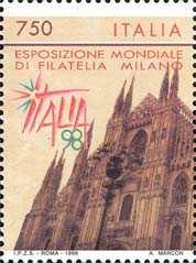 «ITALIA '98» - Esposizione mondiale di filatelia - Milano - Il Duomo