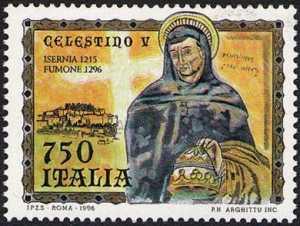 7° Centenario della morte di Papa Celestino V - ritratto da un affresco