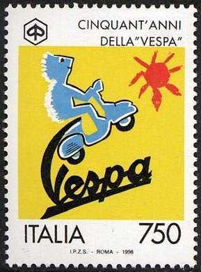 Cinquantenario della produzione della «Vespa» - logo