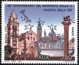 40° Anniversario del «Rapporto Spaak» e nascita della CEE - Messina e Venezia