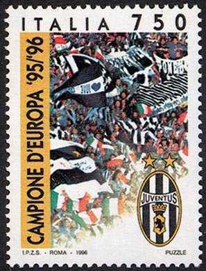 Juventus campione d'Europa 1995-96 - tifosi in festa