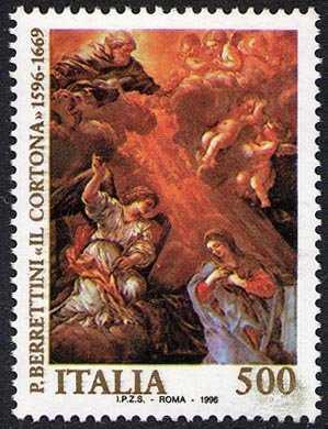 4° Centenario della nascita di Pietro Berrettini detto «Il Cortona» - dipinto «Annunciazione»