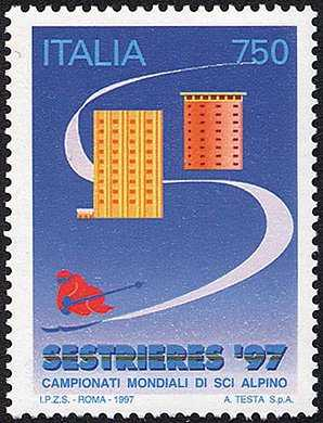 Lo sport italiano - Campionati mondiali di sci alpino «Sestrières '97» - L. 750