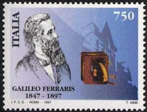 Centenario della morte di Galileo Ferraris - ritratto dello scienziato