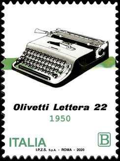 macchina per scrivere portatile OLIVETTI Lettera 22 - 70° Anniversario della produzione