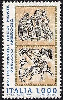 16° Centenario della morte del vescovo Ambrogio - Particolare dell'altare d'oro di Volvinio nella Basilica di S. Ambrogio - Milano