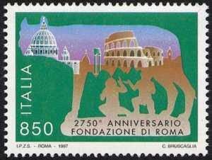 2750° Anniversario della fondazione di Roma - «Lupa e monumenti»