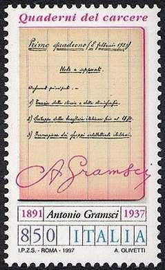 60° Anniversario della morte di Antonio Gramsci, politico - «Quaderni del carcere»  - la 1ª pagina del 1° quaderno