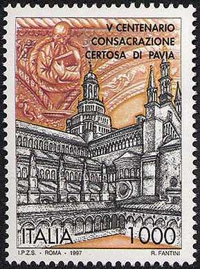 5° Centenario della consacrazione della Chiesa della Certosa di Pavia - la Certosa del XIV-XV sec.