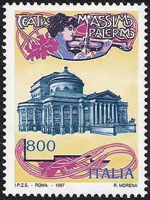 Centenario del Teatro Massimo di Palermo - Locandina del 1901
