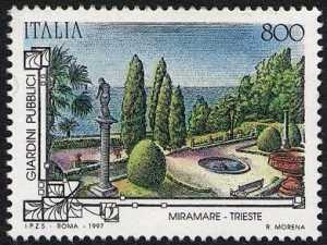 Patrimonio artistico e culturale italiano - Giardini storici pubblici - Giardini Miramare - Trieste