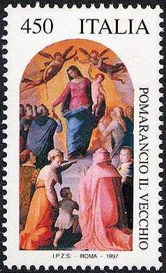 Patrimonio artistico e culturale italiano - 4° Centenario della morte di Nicolò Cercignani detto «Pomarancio il Vecchio» - dipinto «Madonna del Rosario»