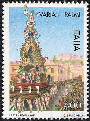 Festa della «Varia» di Palmi - il carro sacro