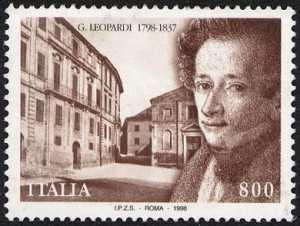 Bicentenario della nascita di Giacomo Leopardi - poeta - ritratto e Palazzo Leopardi