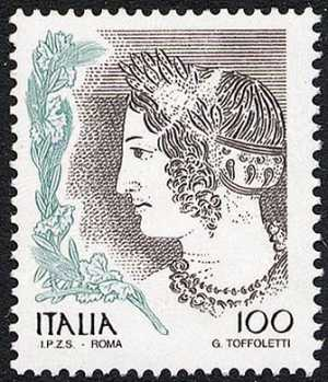 «Le donne nell'arte» - Serie ordinaria - particolari da opere d'arte - arte etrusca