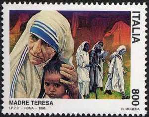 Madre Teresa di Calcutta - Emissione congiunta con l'Albania - Madre Teresa con un bambino