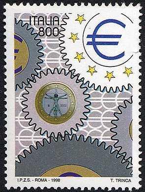 «Italia '98» - Esposizione Mondiale di Filatelia, Milano - «Giornata dell'Europa» - adesivo