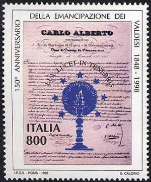 150° Anniversario della pubblicazione delle Regie Patenti a favore dei Valdesi - testo delle Lettere Patenti