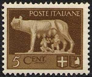 1929 - Serie detta «Imperiale» - Lupa di Roma