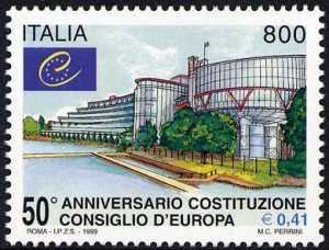 Cinquantenario della costituzione del Consiglio d'Europa - la sede a Strasburgo